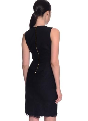 House Of Camellia Kolsuz Kısa Elbise Siyah